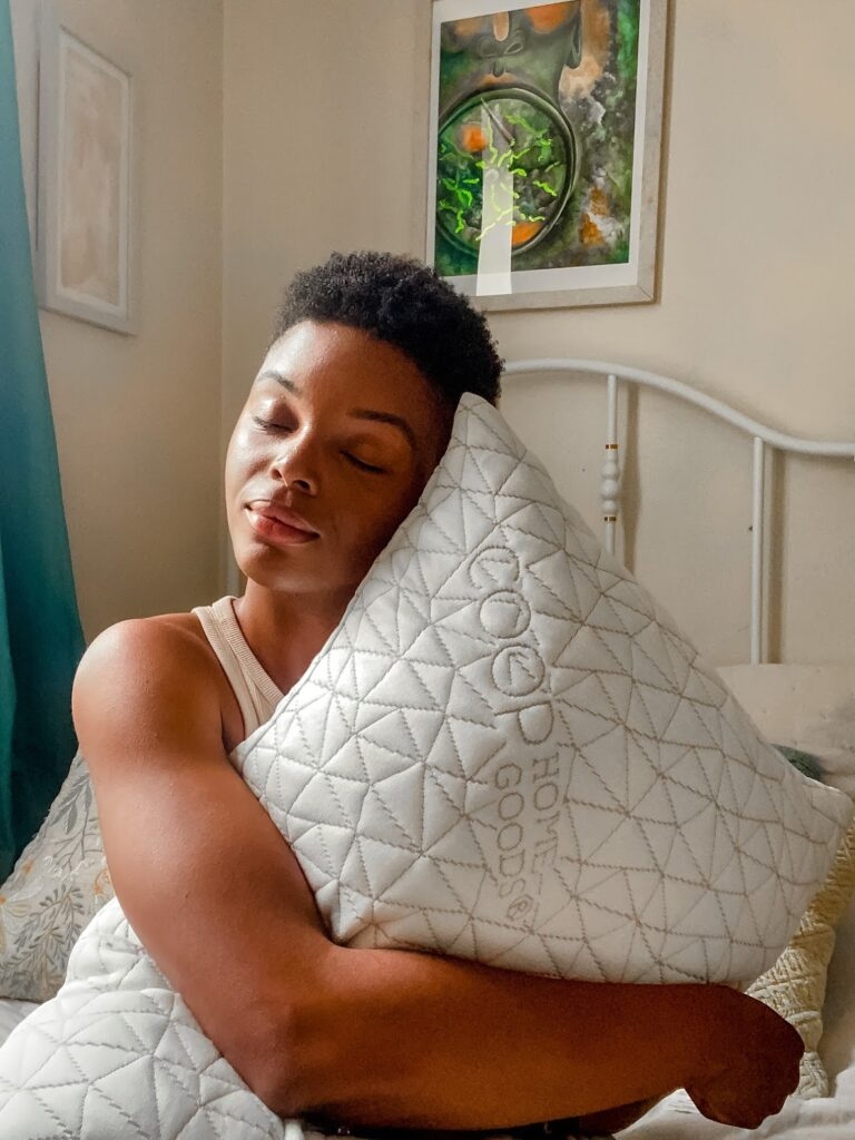 hugging- How I Get Better Sleep At Night Using COOP Pillows!