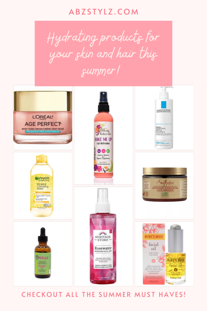 products- how to keep your skin and hair hydrated this summer.